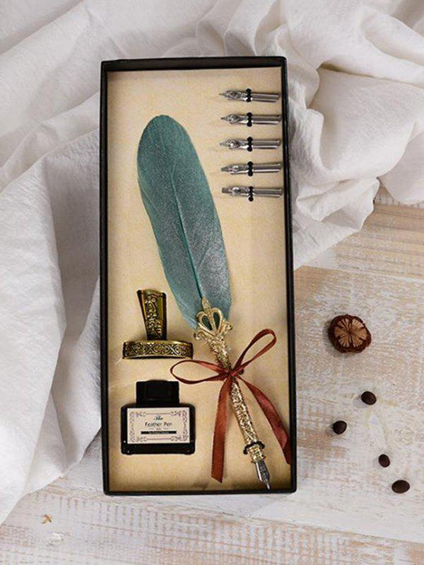 Trendy Vintage Feather Pen with Box
