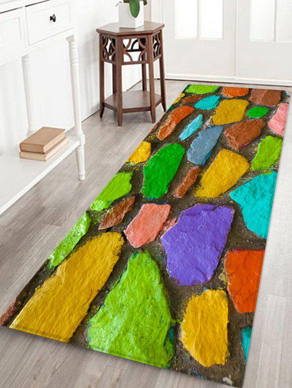 Discount Stone Pattern Printed Floor Mat