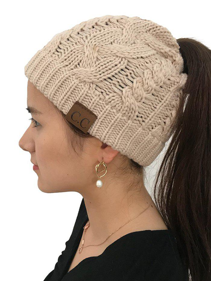 Outfit Winter Knitted Simple Style Hat