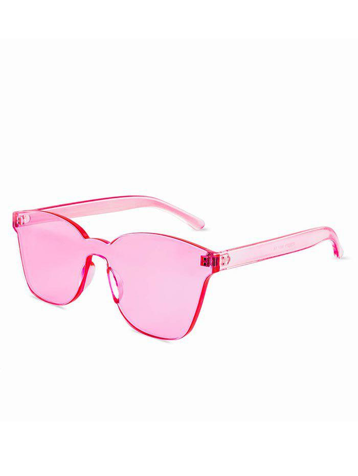 Online Candy Color Anti UV Square Rimless Sunglasses