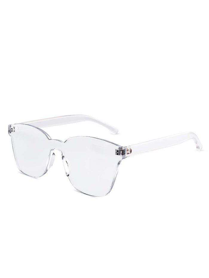 Outfits Candy Color Anti UV Square Rimless Sunglasses
