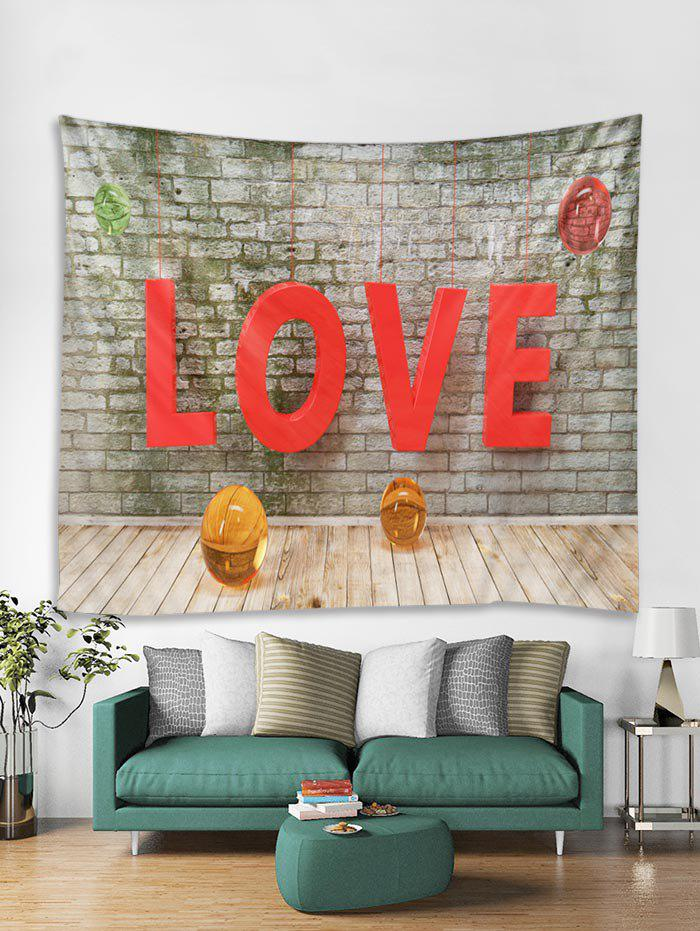 Fancy Valentines Day LOVE Print Tapestry Wall Hanging Art Decoration