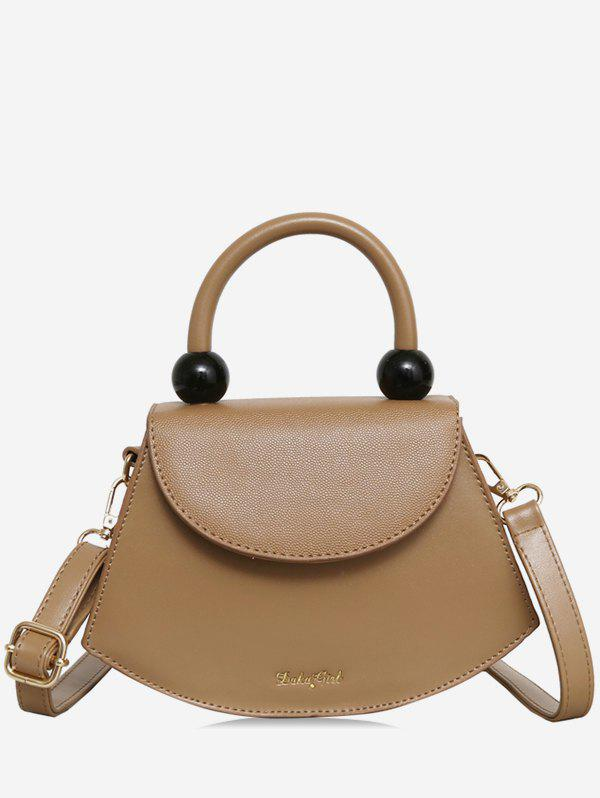 Fashion Fan Shape Beads Crossbody Bag