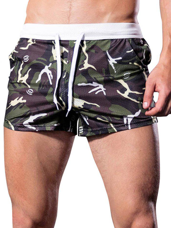 Outfit Camouflage Printed Mesh Boxers