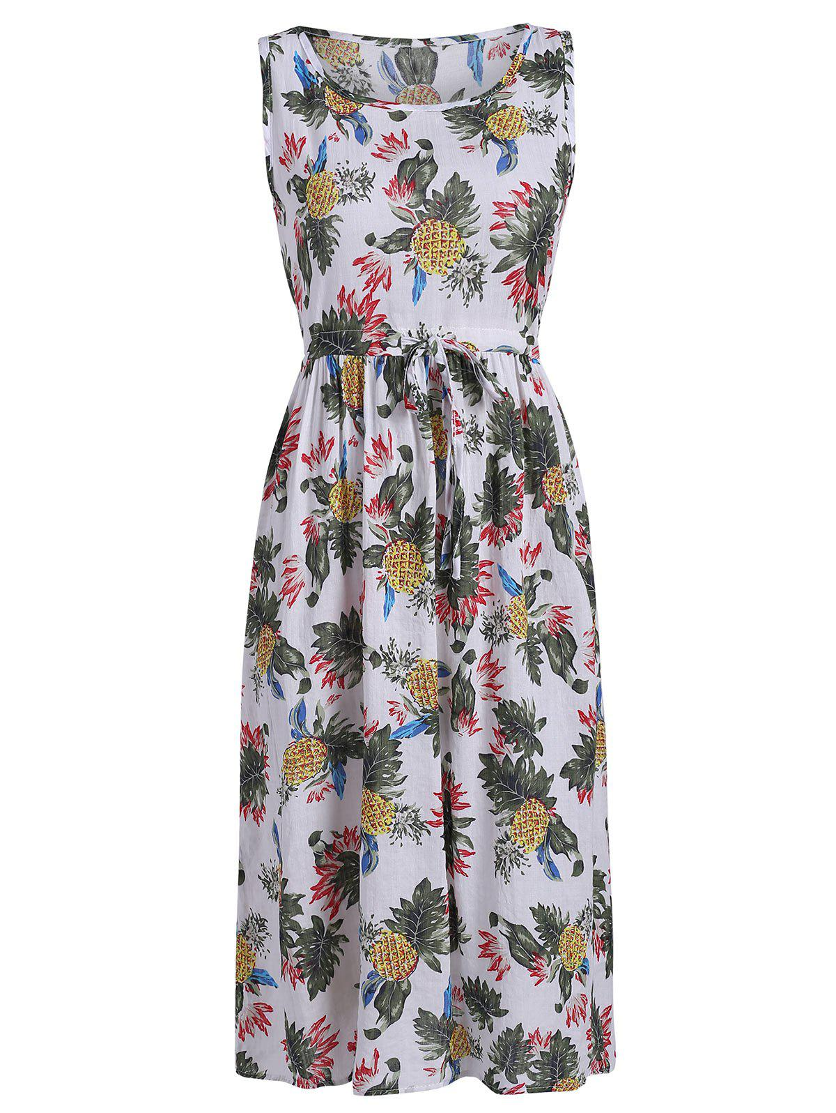 New Pineapple Printed Midi Dress