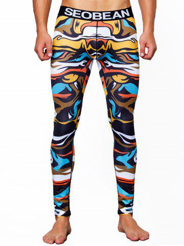 Elasticity Colorful Printed U Pouch Long Johns