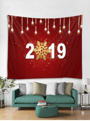 2019 Snowflake Print Tapestry Wall Hanging Art Decoration -