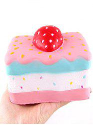 Strawberry Cake Stress-relief Slow Rising PU Squishy Toy -