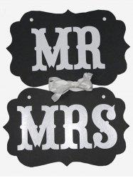 MR And MRS Pattern Hanging Chair Signs -