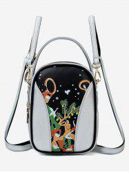 Forest Funny Pattern Top Handle Mini Backpack -