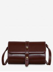 Accent Strap Flap Crossbody Bag -