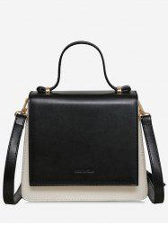 Two Tone Top Handle Sling Bag -