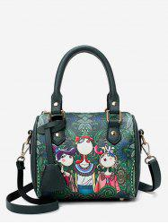 Forest Printed Top Handle Crossbody Bag -