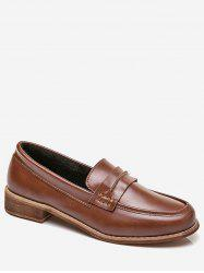 Moc Toe Faux Leather Slip On Shoes -