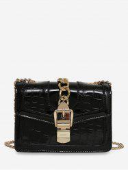 Geometric Flap Chain Crossbody Bag -