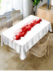 Valentines Day Hearts Print Fabric Waterproof Tablecloth -