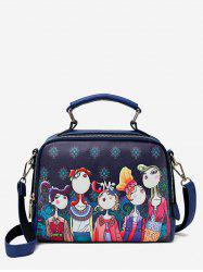 Forest Top Handle Printed Square Crossbody Bag -