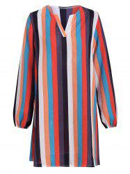 Striped Colorful Shift Mini Dress -
