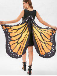 Drop Waist Mini Butterfly Dress -