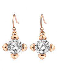 Heart Shape Rhinestone Drop Hook Earrings -