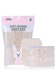 Rabbit Print Face Cleaning Tool Wash Sponge Puff -