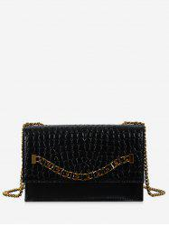 Chain Design Leather Small Shoulder Bag -