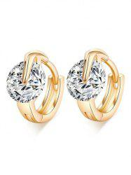 Simple Luxury Zircon Shiny Hoop Earrings -