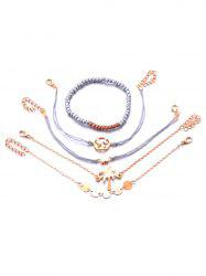 Beading Design Chain Bracelets Set -