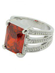 Artificial Gemstone Decoration Ring -