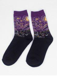 Painting Print Men Socks -
