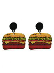 Doughnut Hamburger Design Acrylic Earrings -