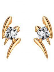 Faux Crystal Lightning Shape Small Earrings -