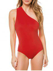 Knotted One Shoulder One-piece Swimsuit -
