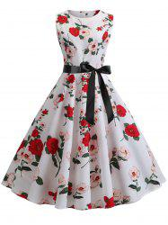 Floral Retro Fit and Flare Dress -