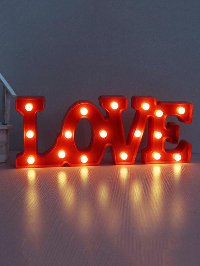 Buy Valentines Day LOVE Shape LED Night Light