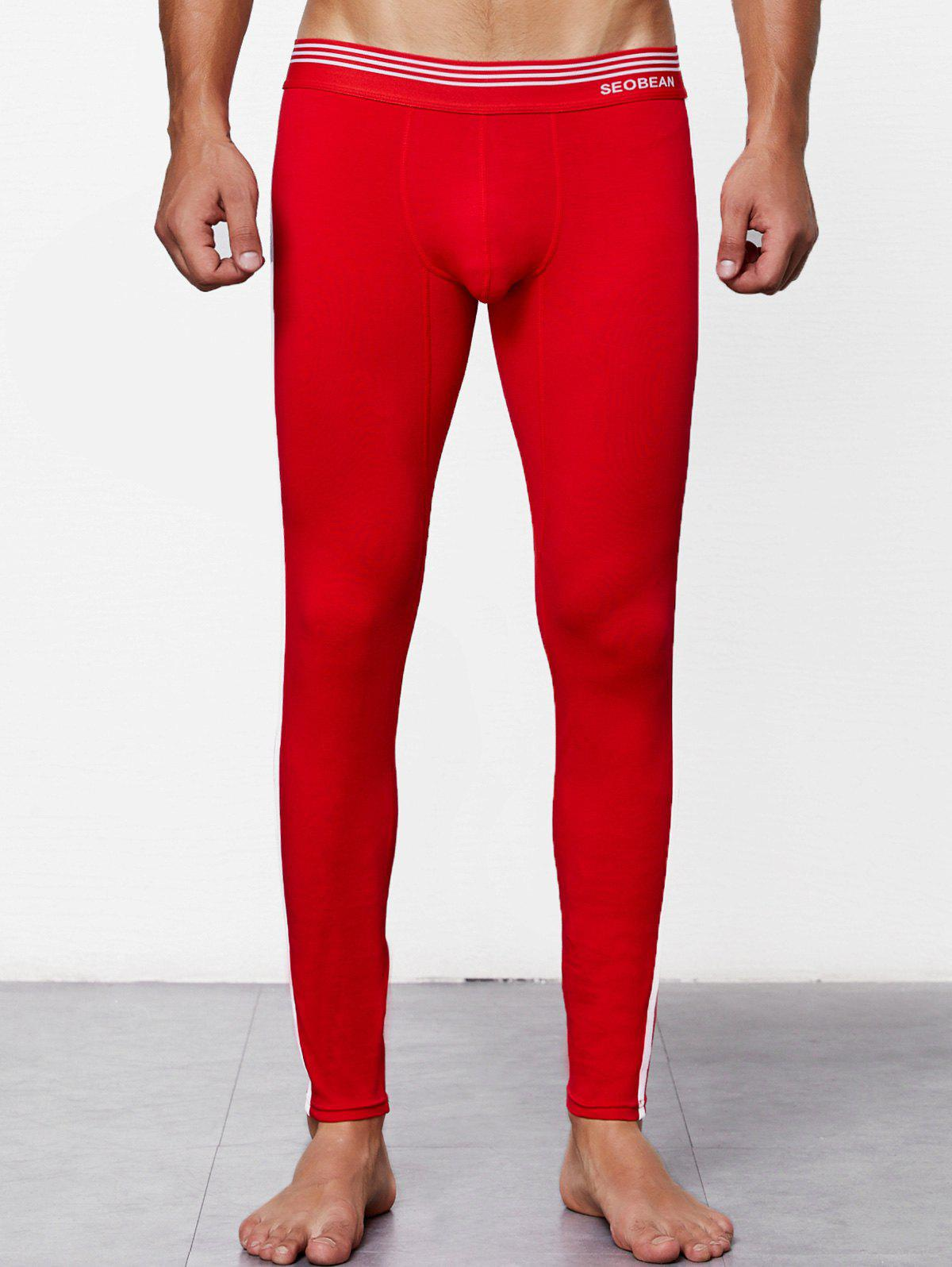 Cheap Close-fitting Solid Color Long Johns