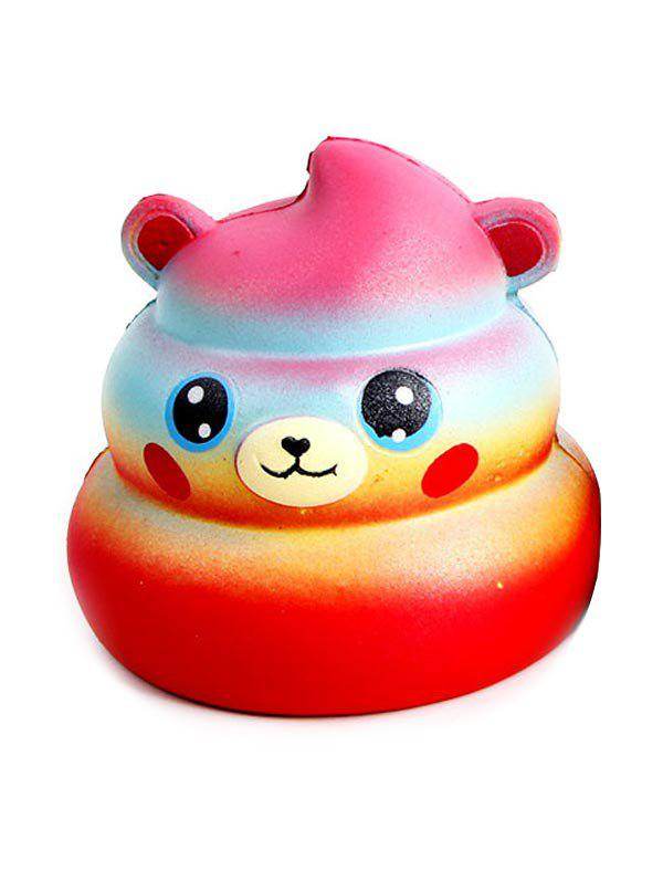 Sale Bear Starry Sky Stress-relief Slow Rising PU Squishy Toy