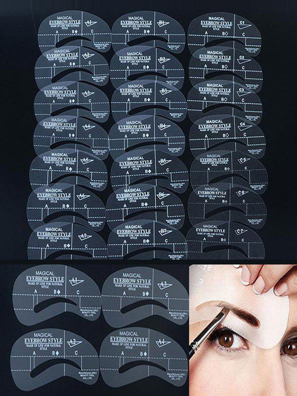 Unique 24 Pcs Makeup Tool Eyebrow Shaping