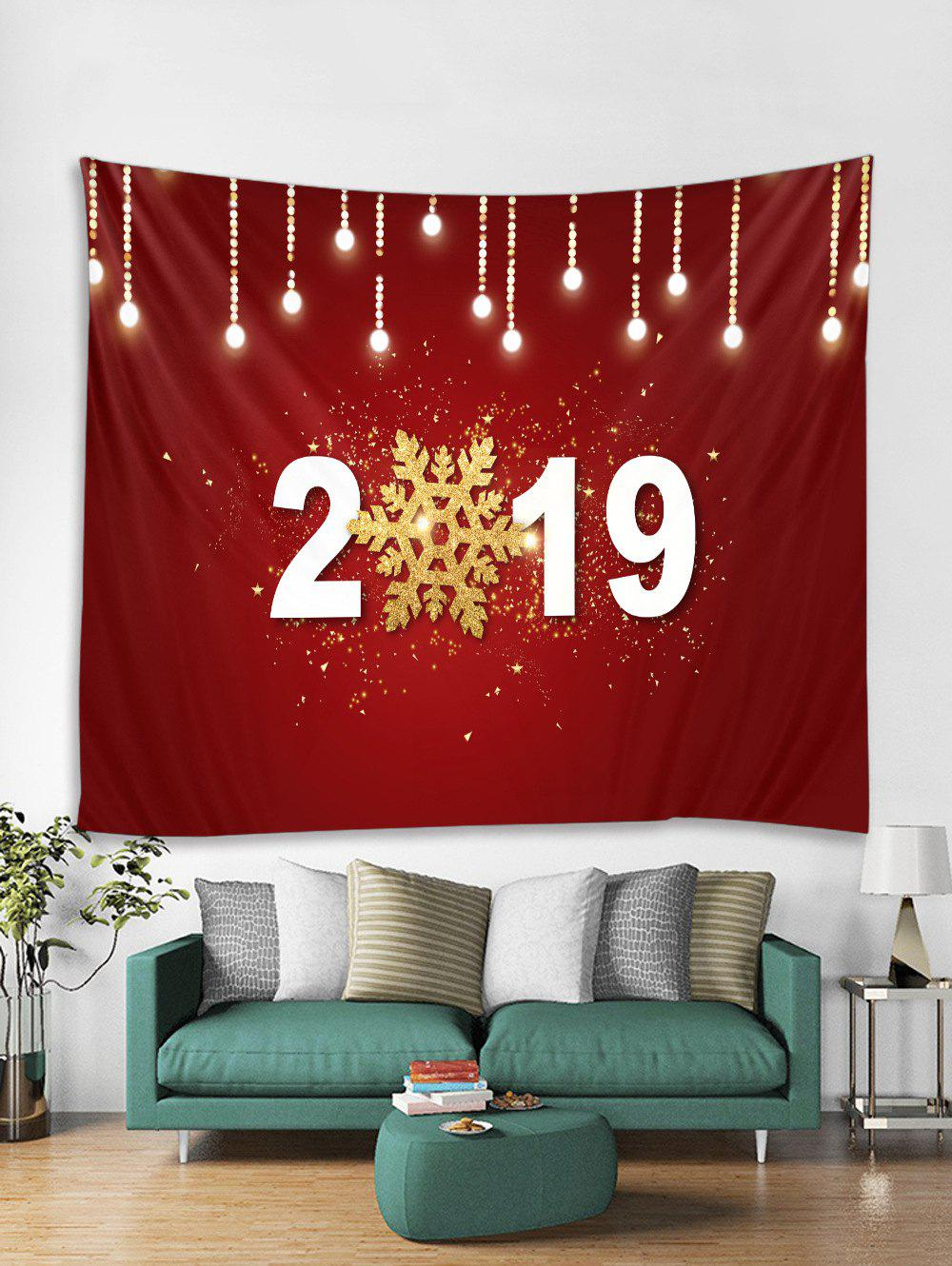 Fashion 2019 Snowflake Print Tapestry Wall Hanging Art Decoration