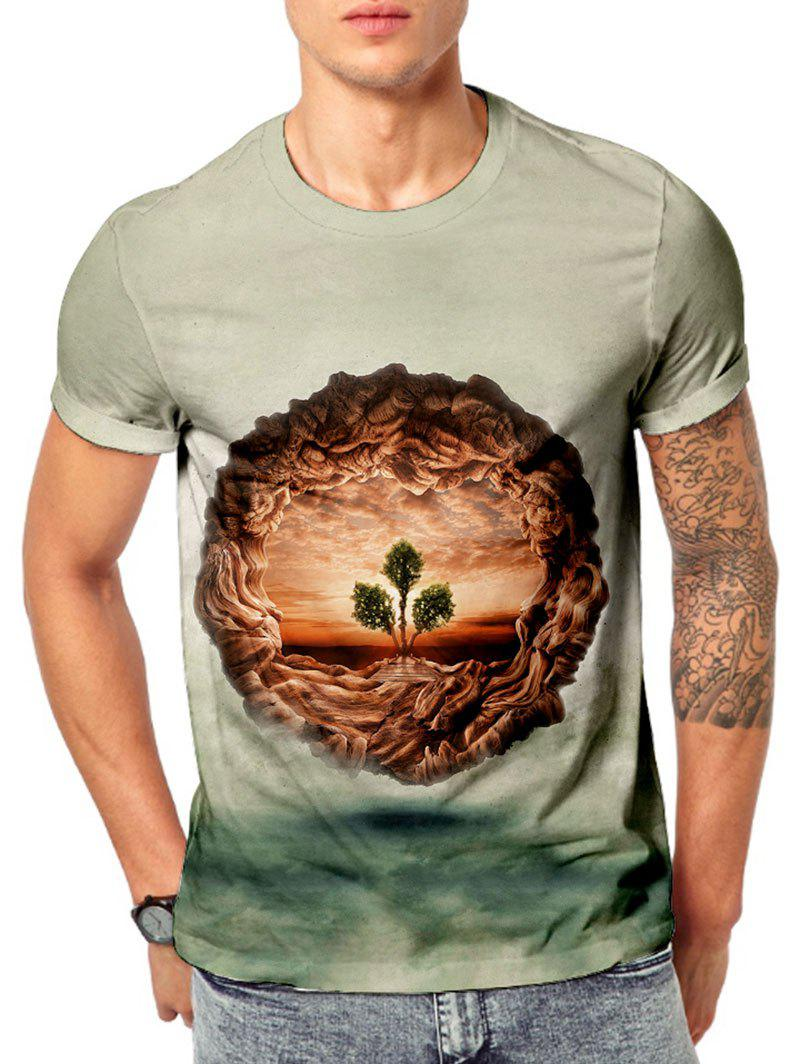 Outfit 3D Tree Of Life Print Short Sleeve T-shirt