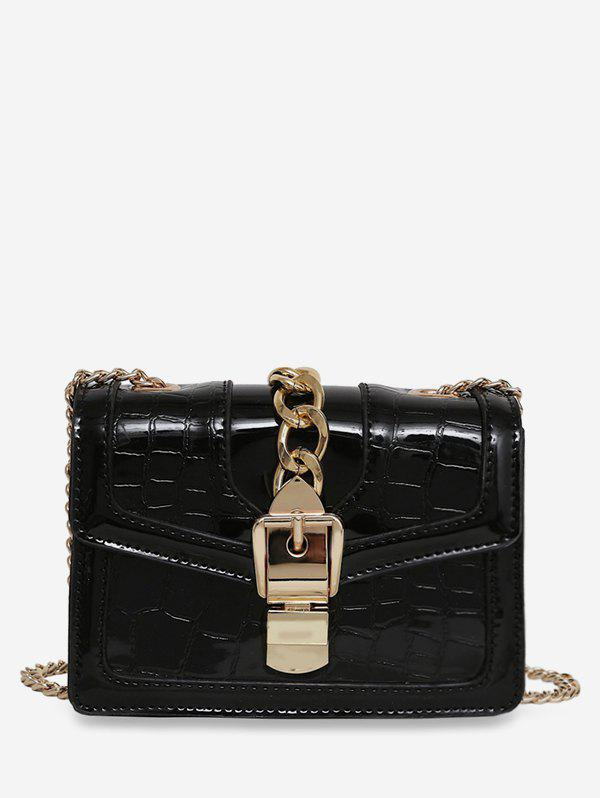 Chic Geometric Flap Chain Crossbody Bag