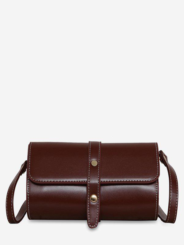 Unique Accent Strap Flap Crossbody Bag