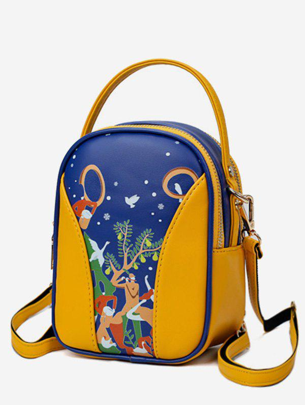 New Forest Funny Pattern Top Handle Mini Backpack