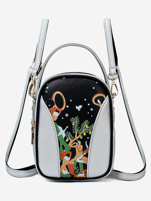 Fashion Forest Funny Pattern Top Handle Mini Backpack