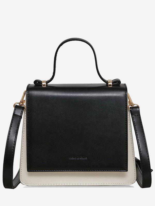 Fancy Two Tone Top Handle Sling Bag