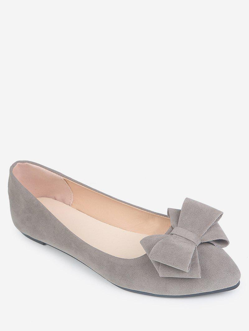 Online Pointed Toe Low Cut Bowknot Flats