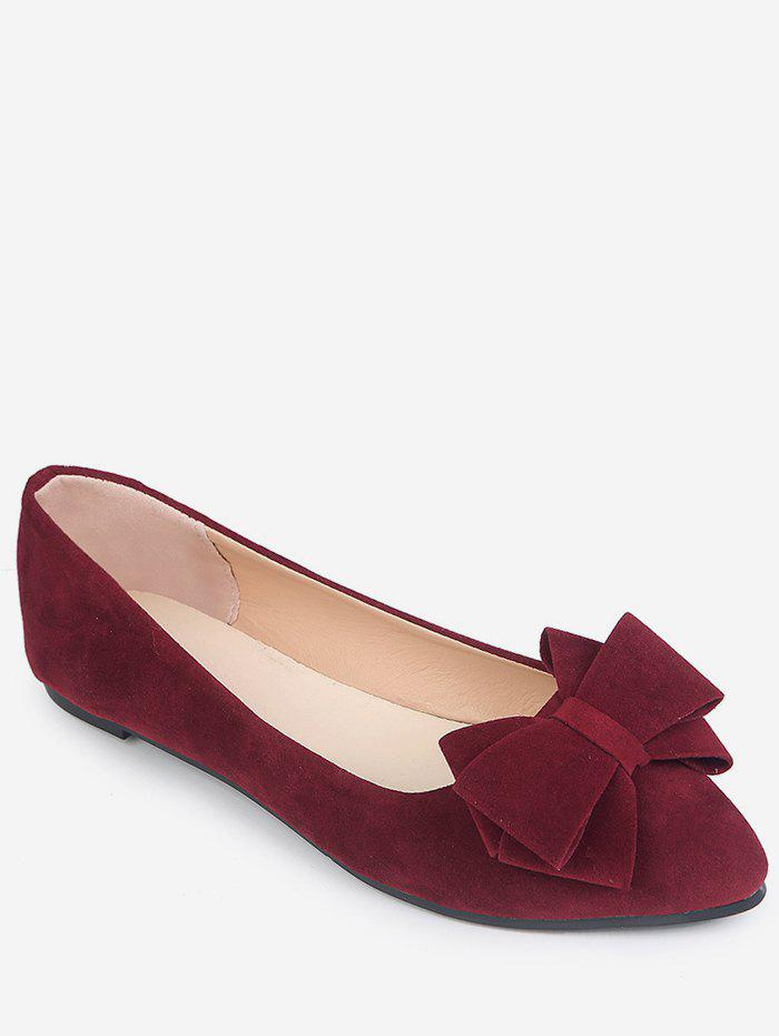 Hot Pointed Toe Low Cut Bowknot Flats