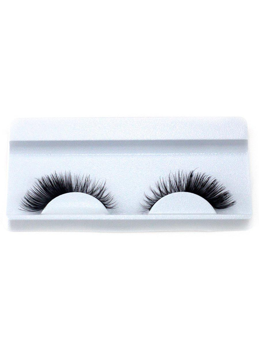 Affordable 1Pair Long Extension Curled Faux Eyelashes