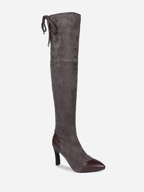 Store Pointed Toe Stiletto Heel Thigh High Boots