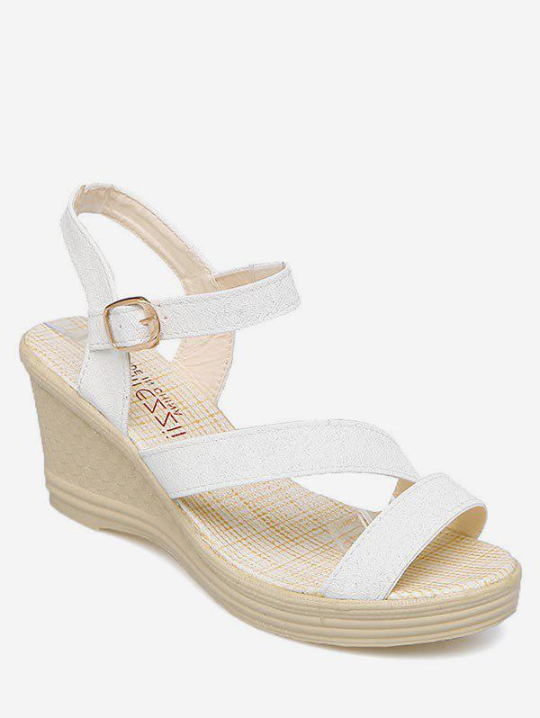 Store Wedge Heel Ankle Strap Sandals